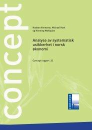Analyse av systematisk usikkerhet i norsk økonomi - Concept - NTNU