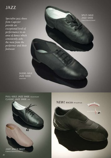 Specialist jazz shoes from Capezio® provide an ... - Tantsutarbed