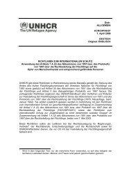 RICHTLINIEN ZUM INTERNATIONALEN SCHUTZ ... - UNHCR
