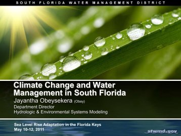 Climate Change and Water Management in South Florida