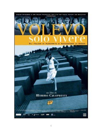 Download the Volevo solo vivere press kit - USC Shoah Foundation ...