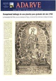 Excepcional hallazgo de una plancha para grabado del año 1762