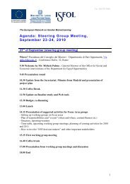 Agenda: Steering Group Meeting, September 23-24, 2010