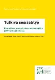 Tutkiva Sosiaalityö 2005 2 - Sosiaalityön tutkimuksen seura