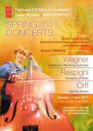 spring concerts 2011 - The National Children's Orchestras of Great ...