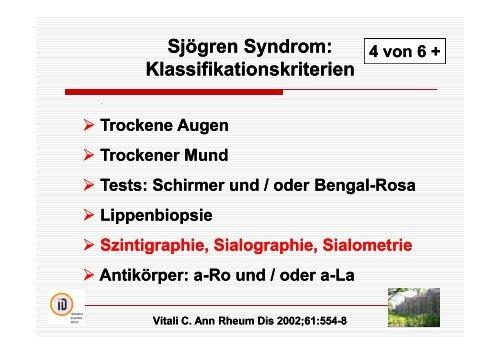 Sjögren Syndrom: Bildgebende Diagnostik - Rheuma-Tage-Berlin