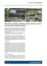 Getting exactly what you want with Grundfos Digital Dosing