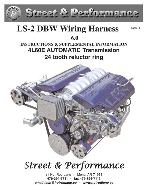 Ls-2 Dbw Wiring Harness 24 Tooth Reluctor Ring