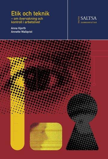 Etik och teknik - Ekonomisk-historiska institutionen