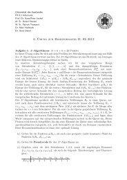 8. ¨Ubung zur Bioinformatik II, SS 2012 - Universität des Saarlandes
