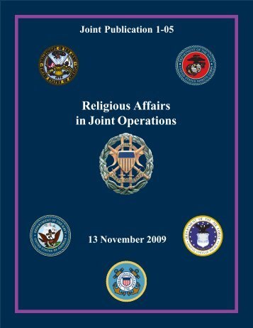 JP 1-05, Religious Affairs in Joint Operations - Defense Technical ...