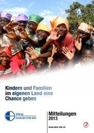 Mitteilungen 2013 - Solidarität Dritte Welt