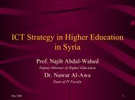 ICT and Higher Education in Syria