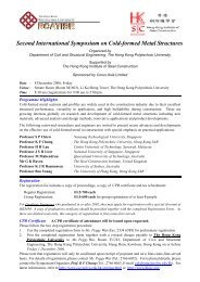 Second International Symposium on Cold-formed Metal Structures