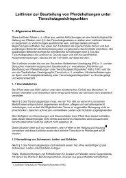 Leitlinien zur Beurteilung von Pferdehaltungen unter ...