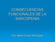 Consecuencias funcionales de la sarcopenia. Marta Castro Rodríguez
