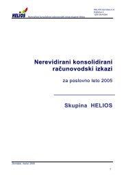 Nerevidirani konsolidirani izkazi 2005 - Helios Group