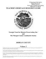 TEACHER'S HERITAGE RESOURCE GUIDE MORGAN COUNTY ...