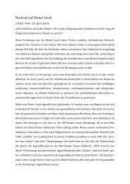 Nachruf auf Dieter Linck - Theater am Gymnasium in Bayern