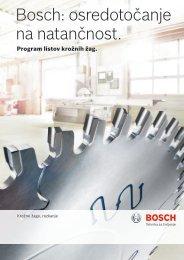 Bosch: osredotočanje na natančnost.