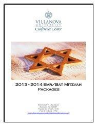 Bar Bat Mitzvah Menus - Villanova Conference Center