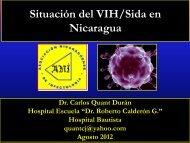 Situacion del VIH/SIDA en Nicaragua. Dr. Carlos Quant Durán. MB ...