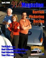 A Look Inside - Barrick Pickering Racing
