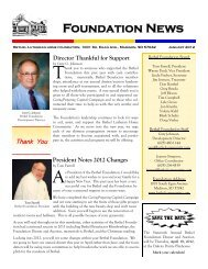 2012 January Foundation News (Read-Only) - Bethel Lutheran Home