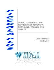 COMPUTERIZED UNIT FOR REFRIGERANT RECOVERY ... - Wigam