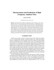 Measurements and Predictions of High Frequency Ambient Noise