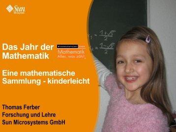 Eine mathematische Sammlung - kinderleicht - ferber-scientific
