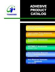 ADHESIVE PRODUCT CATALOG - Aron Alpha - Industrial Krazy Glue