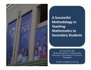 A Successful Methodology in Methodology in Teaching Mathematics ...