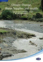 Climate Change, Water Supplies and Health - Environmental ...