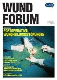 POSTOPERATIVE WUNDHEILUNGSSTÖRUNGEN - Hartmann