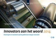 Innovators aan het woord 2014