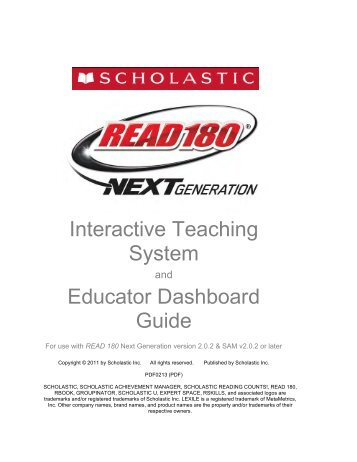 Interactive Teaching System Educator Dashboard Guide - Scholastic ...