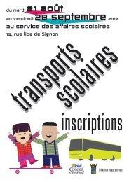 Dépliant Transports 2012 et Horaires des lignes de bus