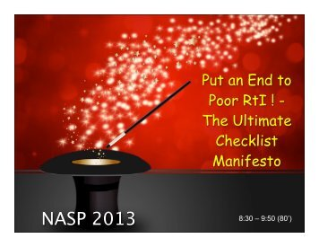 NASP Checklist (1 slide per page)