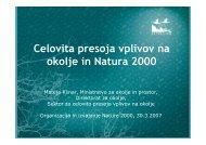 predstavitev izkušenj, Mateja Klinar, Ministrstvo za ... - Natura 2000