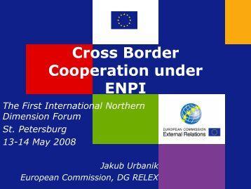 Cross Border Cooperation under ENPI