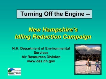 Turning Off the Engine - Granite State Clean Cities Coalition - NH.gov