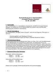 """ Kinzigtal Classics Hausach"" am 06. Juli 2008 - Forum Hausach eV"