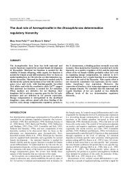 The dual role of hermaphrodite in the Drosophila sex determination ...