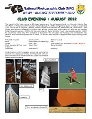 NEWS –AUGUST-SEPTEMBER 2012 - National Photographic Club