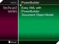 Easy XML with PBDOM - Sybase