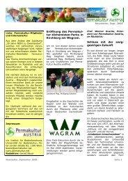 Eröffnung des Permakul - Permakultur in Österreich