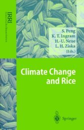 Climate change and rice - IRRI books - International Rice Research ...