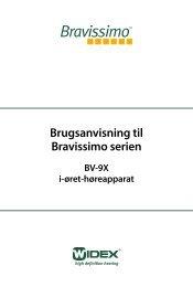 Brugsanvisning til Bravissimo serien - Widex