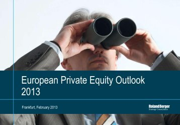 """""""European Private Equity Outlook 2013"""" study (PDF ... - Roland Berger"""